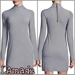 LAmade | Maddox Striped Turtleneck Mini Dress SZ M